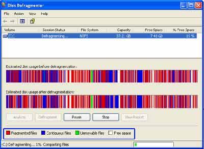 chống phân mảnh ổ cứng trong Windows