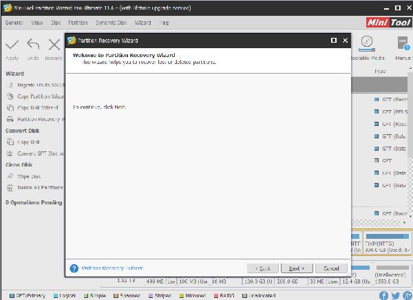 phần mềm phục hồi partition