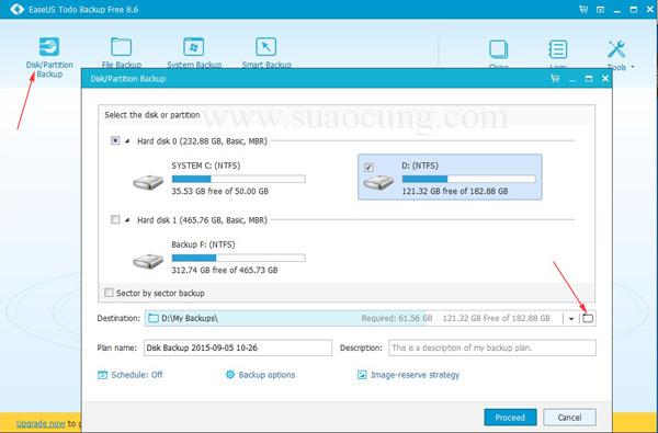 Phần mềm backup dữ liệu